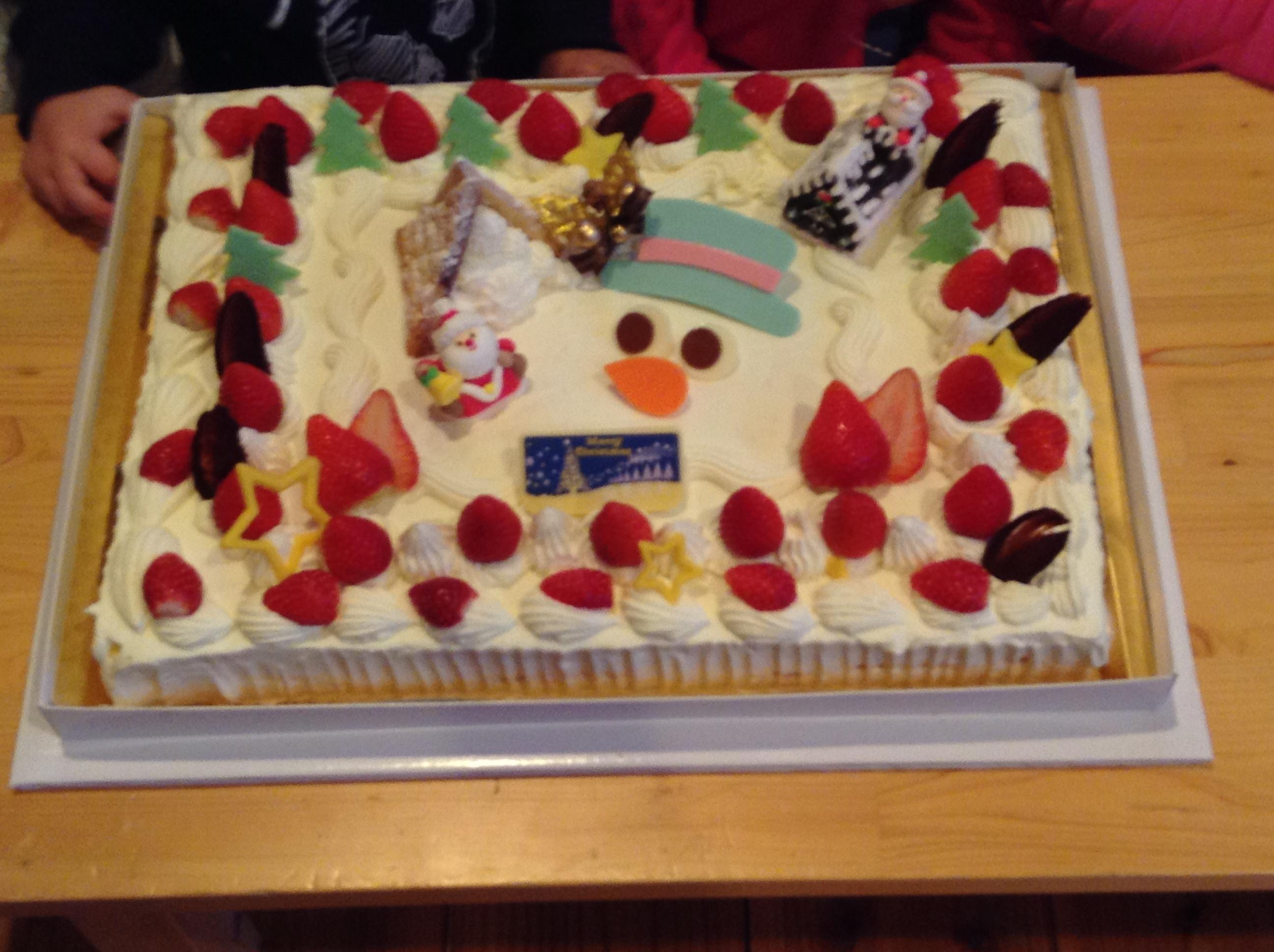 ライオンからの大きなクリスマスケーキ